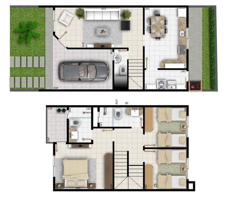 Confira 15 modelos de plantas de casas até 100 mil para fazer o orçamento da sua construção. São diversas opções para você ter a casa dos sonhos