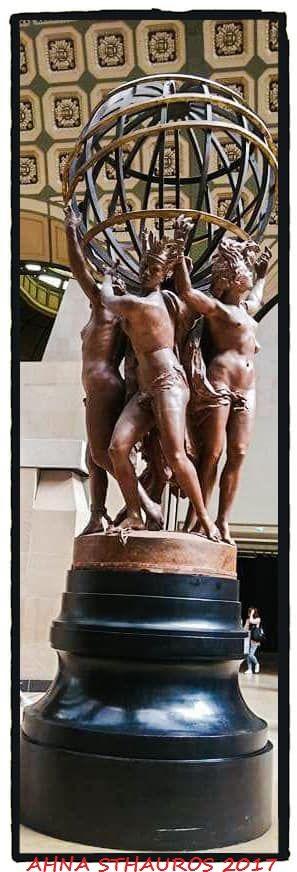 """Museo de Orsay. Jean Paptiste Carpeaux. """"Las cuatro partes del mundo sostienen las esfera celeste"""". Orsay's Museum. Jean Paptiste Carpeaux. """"The four parts of the world hold the celestial sphere."""""""