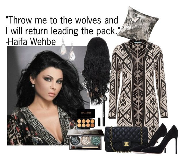 """Quote by Haifa Wehbe inspired set!"" by aphrodite-shomaly ❤ liked on Polyvore featuring beauty, Chantecaille, By Nord, Eddie Borgo, maurices, Stila, Chanel and Gianvito Rossi"