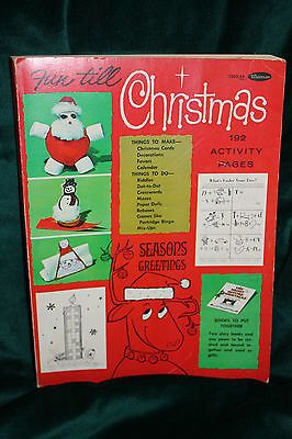 Vintage Fun Till Christmas Coloring Book Copyright 1965