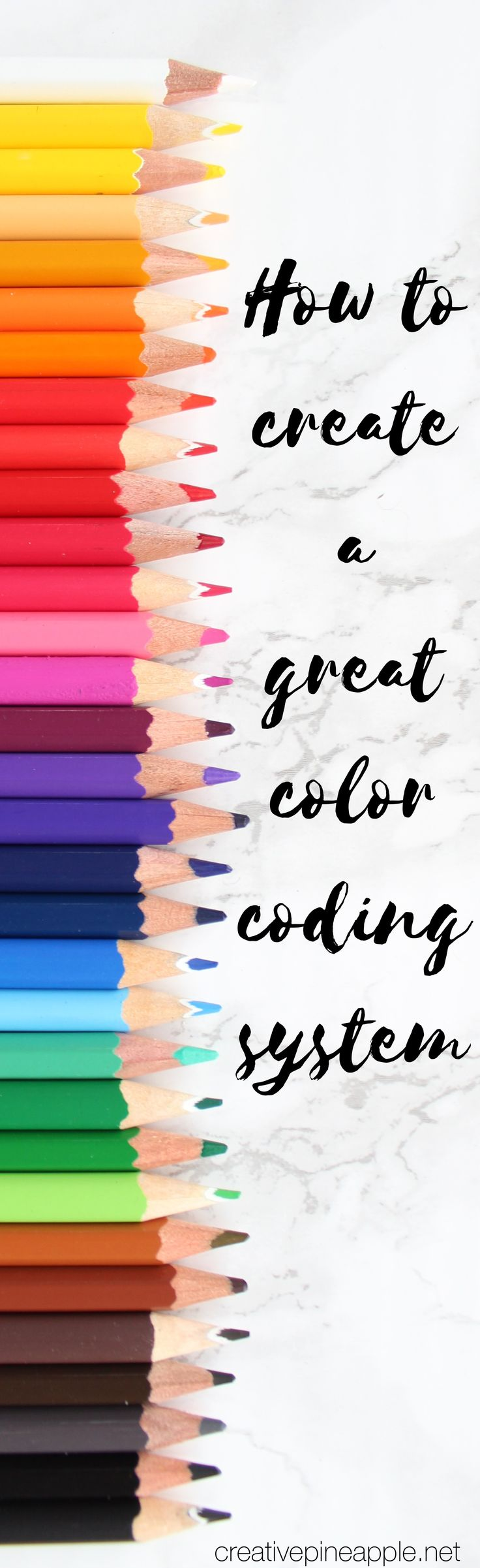 Create a great color coding system for your planner. Read more at www.creativepineapple.net