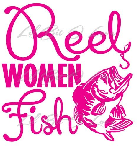 Reel Women Fish Vinyl Decal Sticker Fishing Car Truck Vehicle Auto | LilBitOLove - Housewares on ArtFire