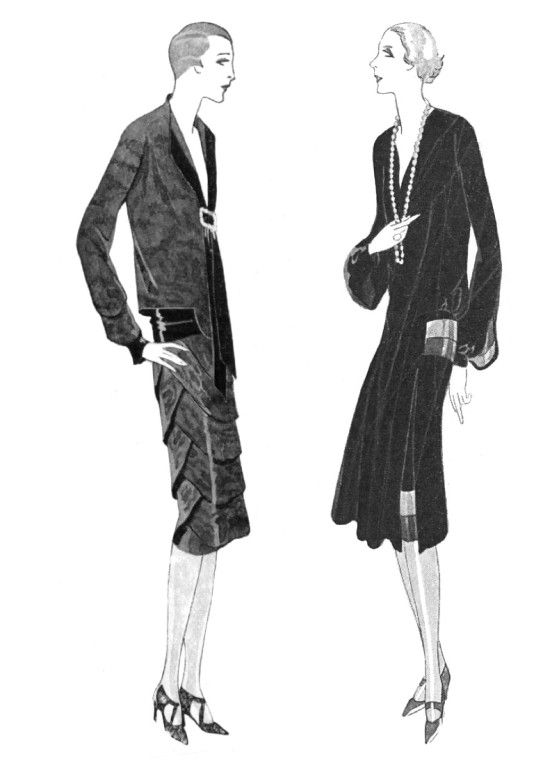 Dresses by Jane and Germaine Lecomte. 1926