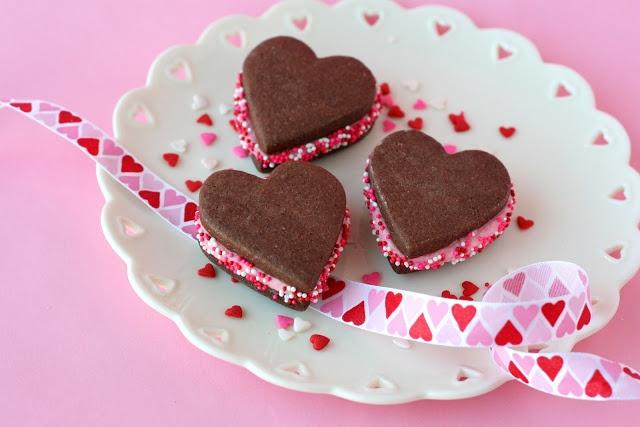 Glorious Treats » Chocolate Valentine's Sandwich Cookies