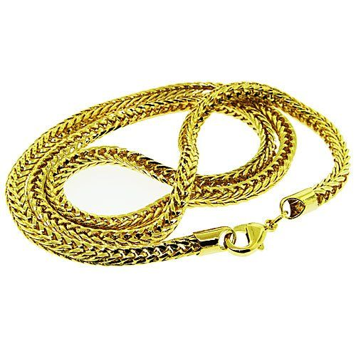 Luxury Franco Chain Necklace - 24 k Gold Plated - New - 5mm 24 Inch Bling solid