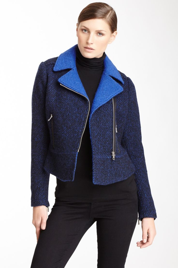 French Connection | Mixed Moto Jacket | HauteLook
