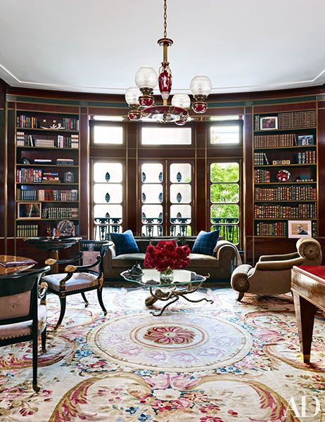 an elegant manhattan townhouse transformed by architect william t georgis aubusson rugshome - Aubusson Rugs