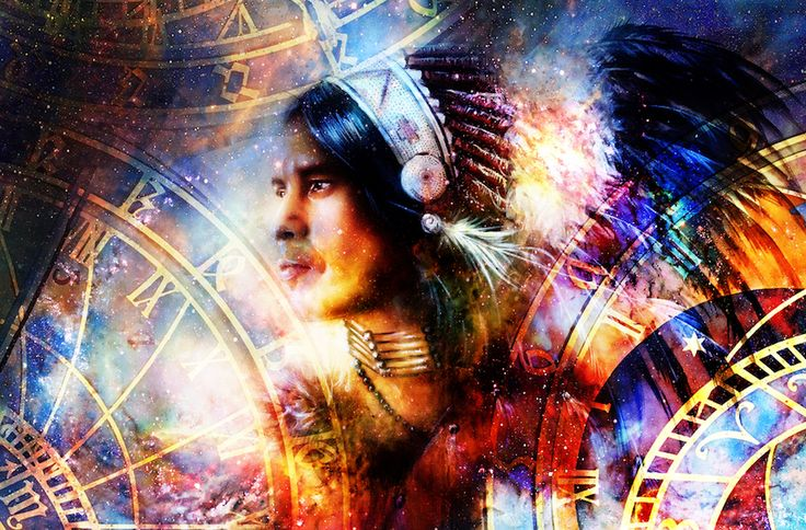 signe astrologique amérindien: Le motif géométrique des étoiles a une signification dans les mythes et les fables des amérindiens. .