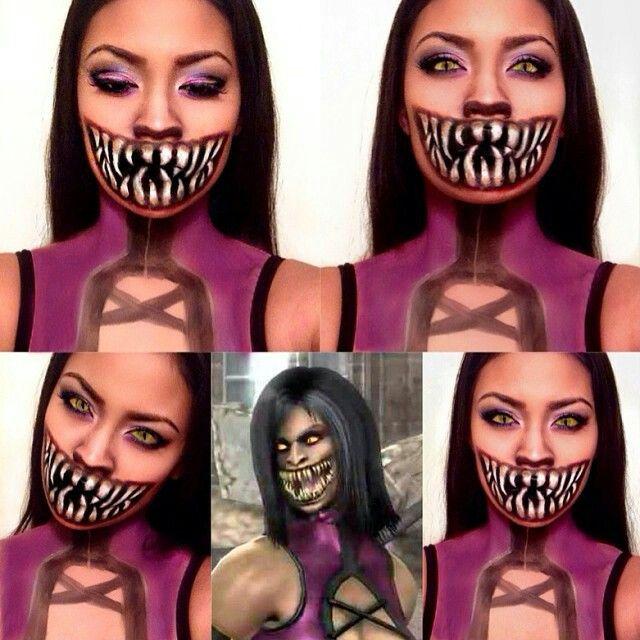 Meleena Mortal kombat makeup