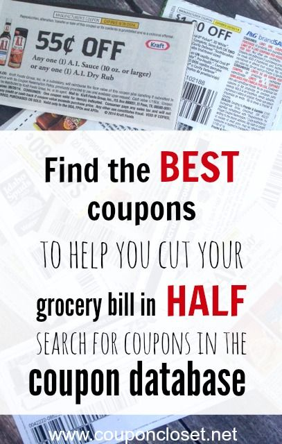 Did you know that you can actually search for coupons. Here is a Coupon Database where you can search for grocery coupons by brand or by type. Then you will find the BEST coupons to help you save on your groceries. - Coupon Closet