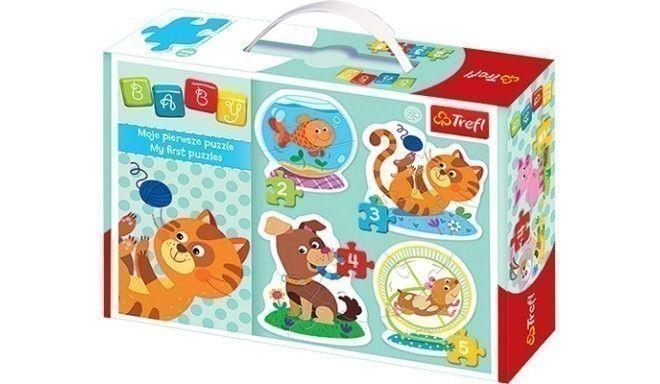 Trefl puzle ar mājdzīvniekiem. 3-5gabaliņi | TREFL BABY CLASSIC FARMILOOMAD TREFL BABY CLASSIC PUSLE LEMMIKLOOMAD