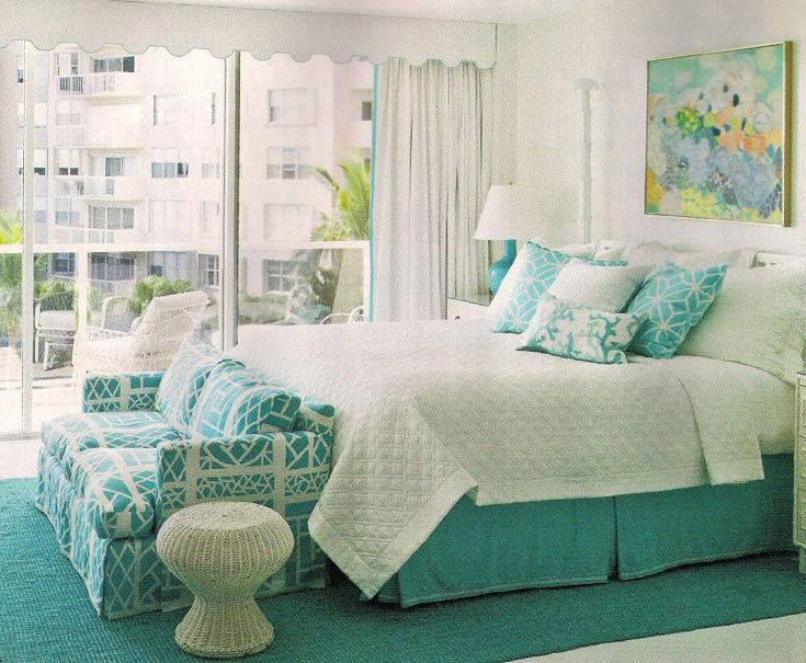 Brighten Up Your Bedroom Coastal Color Of The Year Turquoise Living Guest