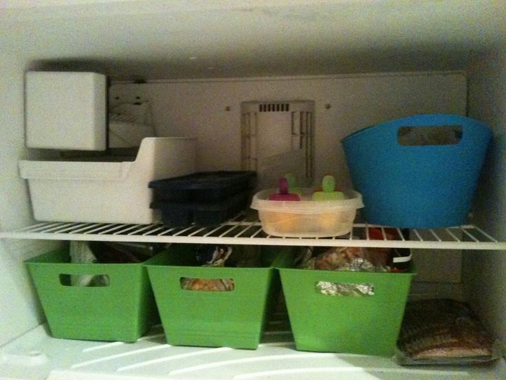 Organized Freezer Dollar Tree Containers Freezer