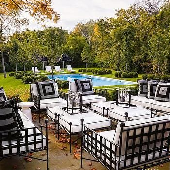 Wrought Iron Patio Furniture Transitional Deck