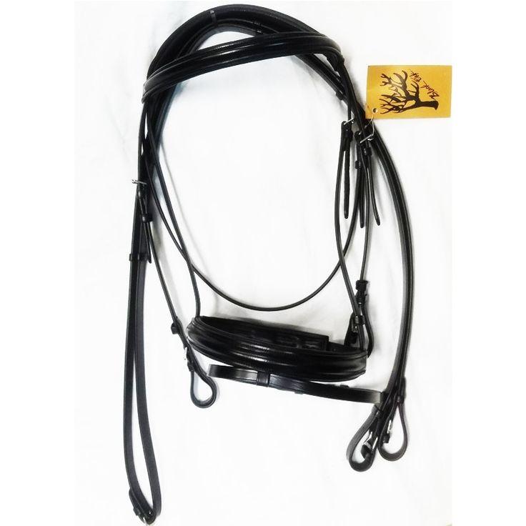 KL Select Black Oak Juniper Dressage Bridle | The Cheshire Horse