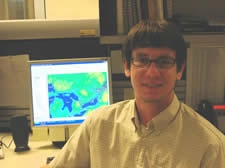 Paul Johnston, (BA 2001 MSc 2004), came to Guelph because the campus appealed to him. After completing his Masters in 2004, Paul began to work part-time for The Weather Network, generating weather maps for newspapers. In April 2005, Paul accepted a full-time position with The Weather Network as a GIS & Profiling Assistant.