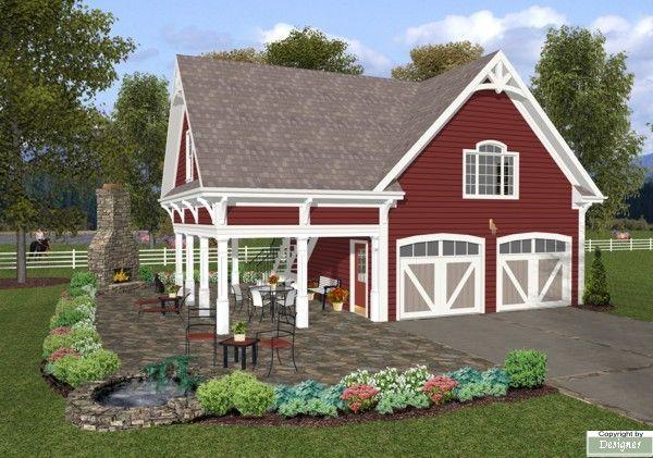 My new favorite garage apartment plan! The Charleston Carriage House House Plan - 8323