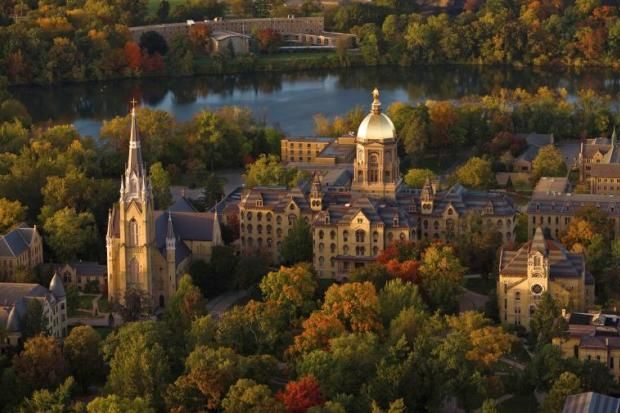 The University of Notre Dame is located on a 1,250-acre campus in South Bend, Ind.