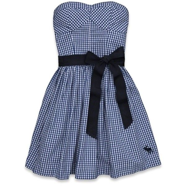 Abercrombie & Fitch Elicia Dress (255 DKK) ❤ liked on Polyvore featuring dresses, navy stripe, navy embroidered dress, blue dress, striped dresses, embroidered dress and blue cotton dress
