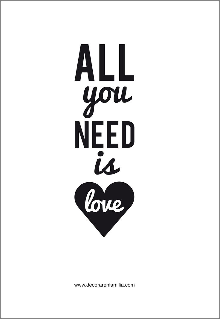 Lámina descargable All You Need Is Love4
