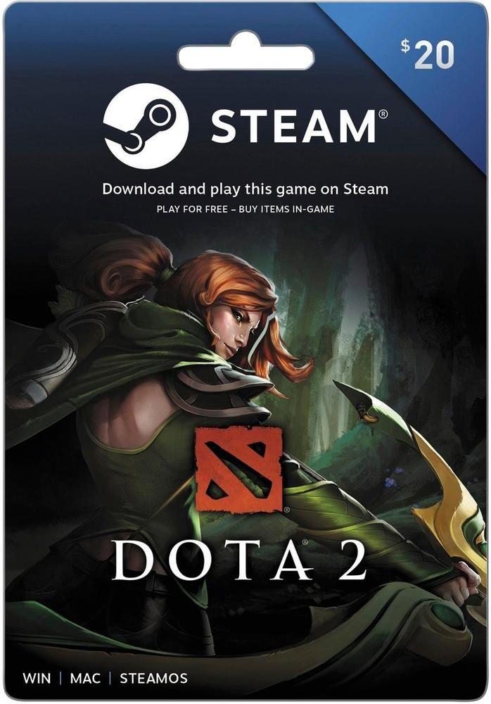 Valve Steam Wallet 20 Gift Card Steam Dota 2 2017 20 Digital