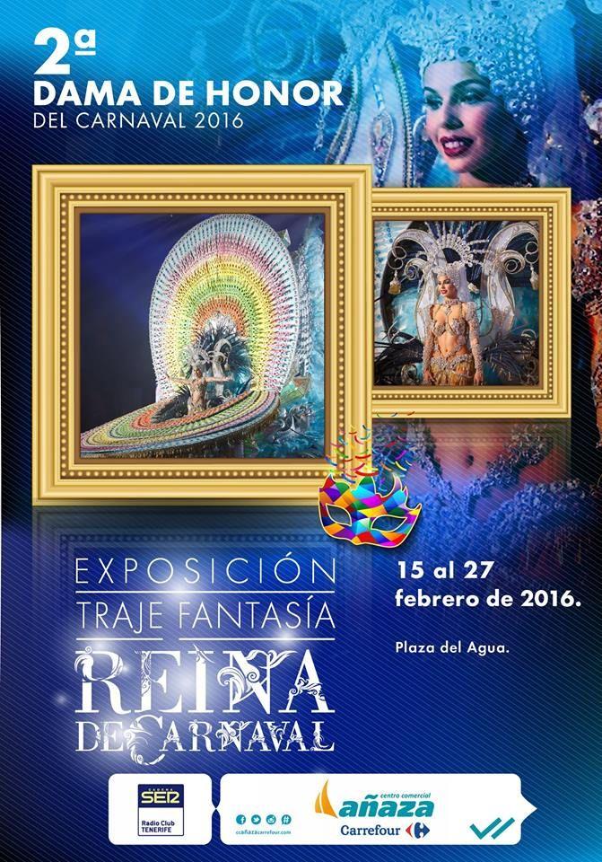 """¡Exposición #TRAJE #FANTASÍA  REINA DEL CARNAVAL """"2ª Dama de Honor del Carnaval 2016""""  del 15 al 27 de #febrero en la Plaza del Agua, en el Centro Comercial Añaza Carrefour!  #ccañazacarrefour #carnaval #Tenerife #islascanarias #ocio #entretenimiento #añaza  http://www.ccanazacarrefour.com/ https://www.facebook.com/CentroComerc... https://twitter.com/ANAZACARREFOUR https://instagram.com/ccanazacarrefour/"""