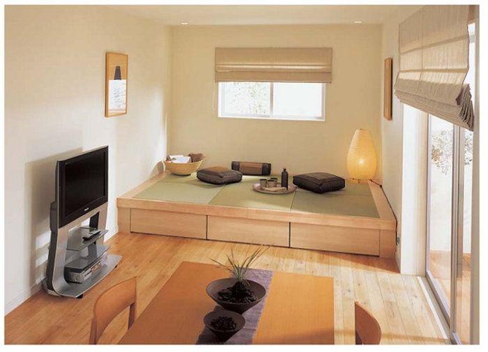 Japanese flat layout - notice floor storage