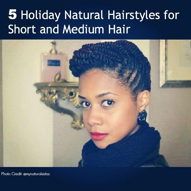 5 Holiday Updos for Short and Medium Natural Hair Curly Twisted Pin-Up