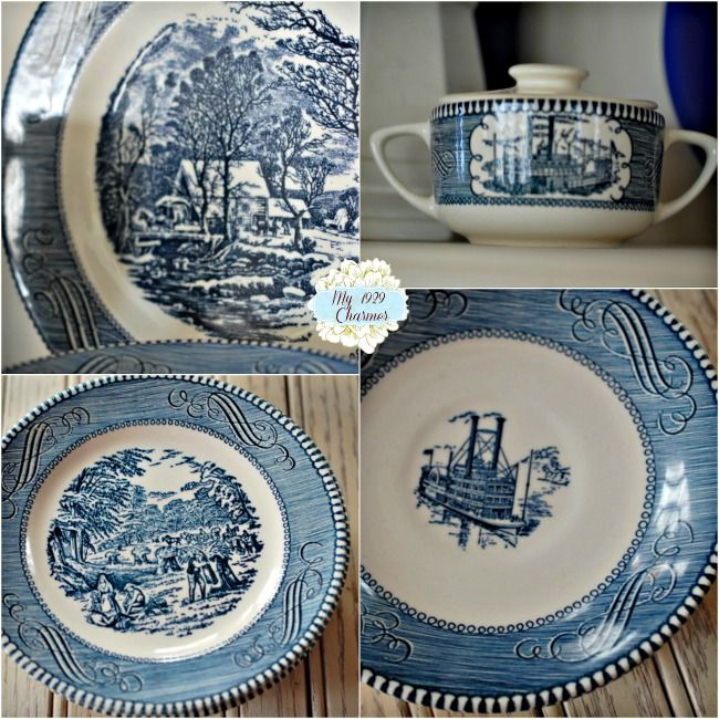 Currier And Ives & 7 best Currier and Ives blue dishes images on Pinterest | Blue ...