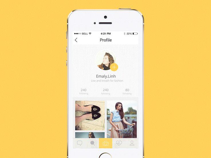 Animated Profile UI Design
