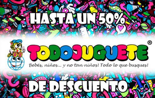 Hasta un 50% de descuento en juguetes en Todojuguete