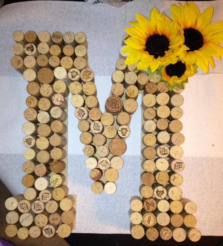 easy & cheap gift idea - cork monogram letter