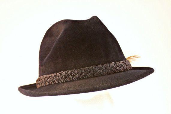 Vintage Fedora Hat, Sovereign Stetson Fedora Hat, Size 7 1/4 Mens Fedora, Stetson Fedora Hat, Black Fedora, Black Fur Felt Fedora Hat