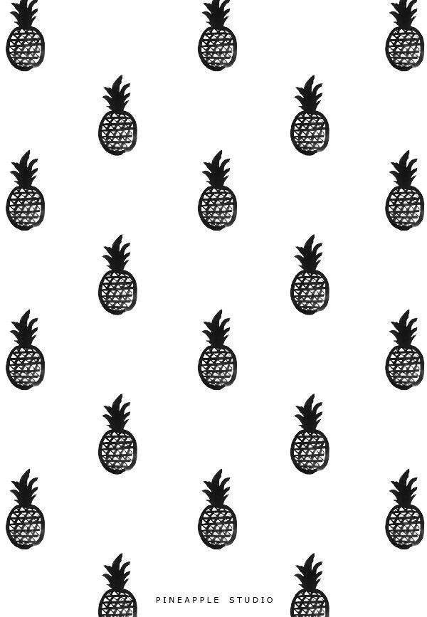 Pineapple Studio By Pi Weinberg Pattern Print White PatternsGraphic PatternsPineapple WallpaperPattern