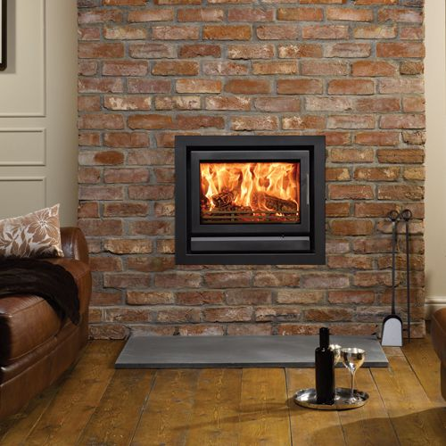 Stovax Riva 66 Cassette Insert Stove - The Riva 66 has significant heating capacity and will be a stunning focal point in your living room. Although it is possible for the Riva 66 fire to be fitted into certain fireplace openings, the extra depth of firebox may require selection of the deep version of the Profil frames to achieve such installations.