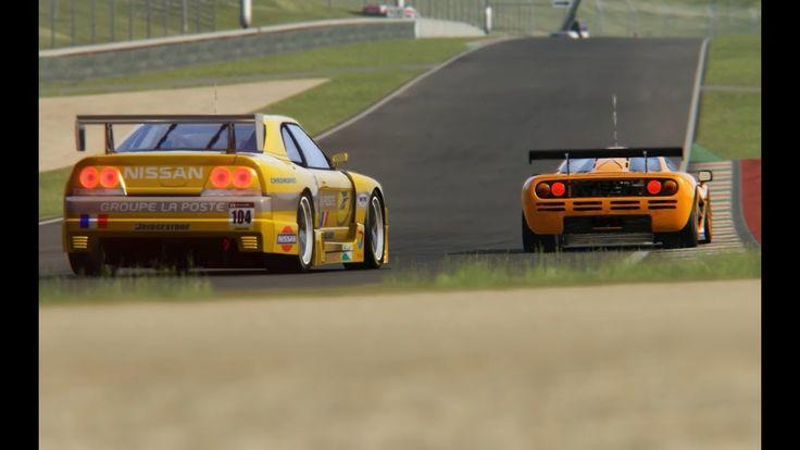 Battle Nissan R33 GT1 LMS  vs McLaren F1 GTR at Mugello