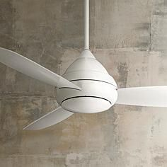"""52"""" Minka Concept I Wet Location White Ceiling Fan"""