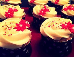 Blooming Vanilla Cupcakes with Cream Cheese Frosting by B.A.K.E.D, Perth WA