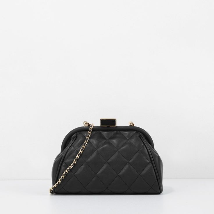 Push-Lock Clutch - Black - Clutch - Bags | CHARLES & KEITH