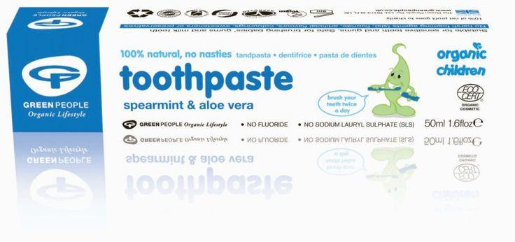 Pasta do zębów bez fluoru dla dzieci, miętowo-aloesowa, Green People