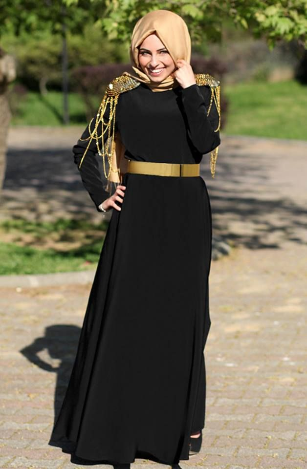 hijab black dress