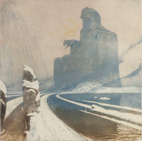 Kupka František (1871–1957)   Černý idol, 1900–1903   Aukce obrazů, starožitností   Aukční dům Sýpka
