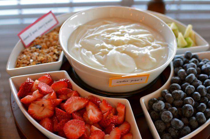 Build your own yogurt parfait bar:  WE HAVE THE BOWLS TO SERVE ALL ITEMS
