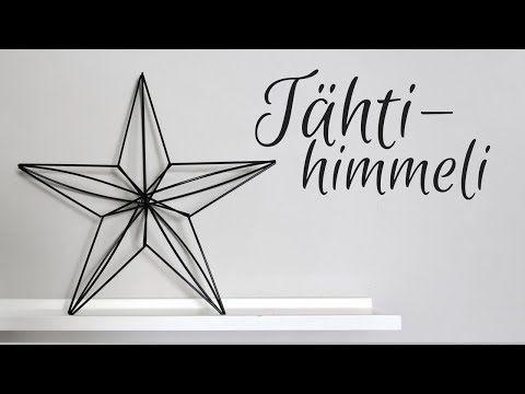 YouTube tähti himmeli koriste pilli joulukoriste video ohje