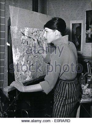 Nov. 11, 1958 - Angelica von Schirach daughter of the former Reichsjugendfuhrer Baldur von Schirach will go to Moskow,
