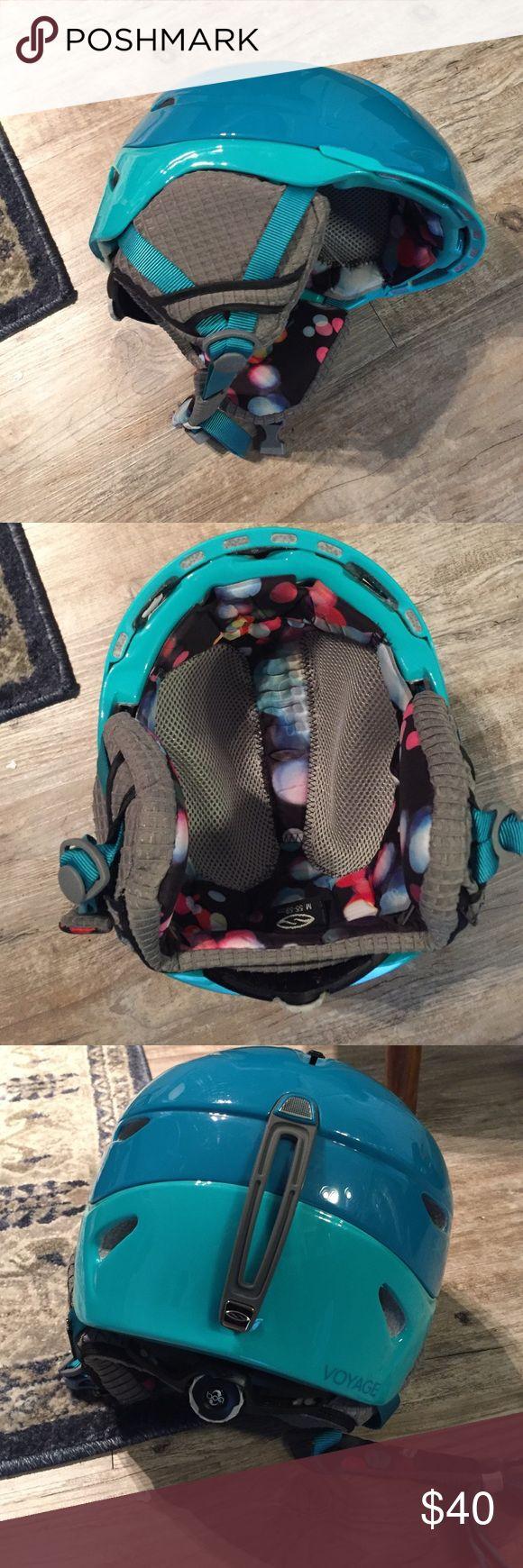 Snow/Ski helmet. Used once. Earphone jack. Snow/ski helmet. Worn once. Fully adjustable, earphone compatible. Other