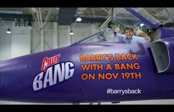 Cillit Bang Cillit Bang UK #Barrysback.  Social Fuel was tasked with building awareness of and driving conversation on Twitter around the teaser TV ads featuring the return of Barry Scott.
