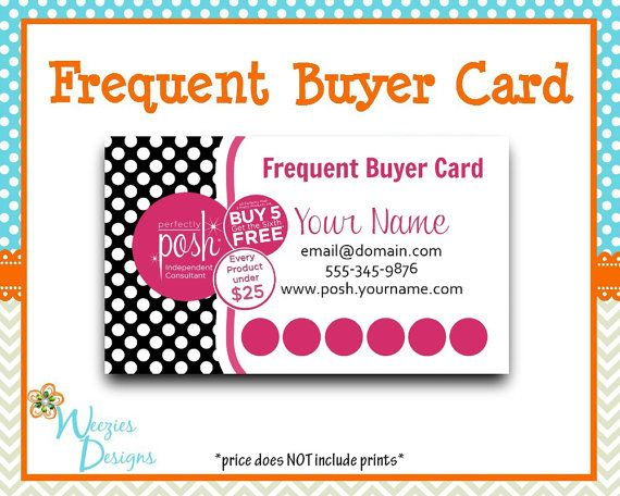 perfectly posh frequent buyer card business card direct sales marketing independant. Black Bedroom Furniture Sets. Home Design Ideas