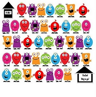 Monster Math dice game