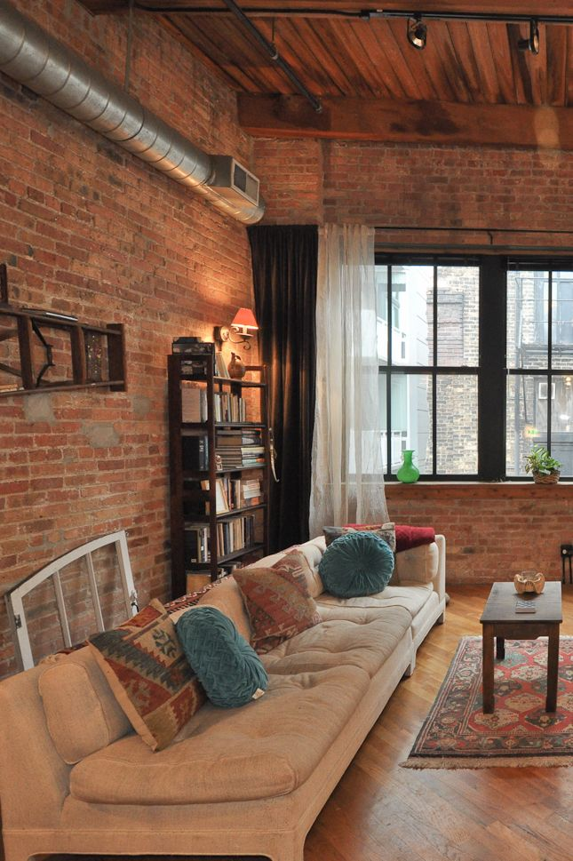 This Chicago brick and timber artist loft space is located in Chicago's hot South Loop neighborhood. We love how warm these brick and timber lofts feel…especially with the Chicago winters! Want one? See the latest listings here:  http://www.bestchicagoproperties.com/neighborhoods/south-loop/